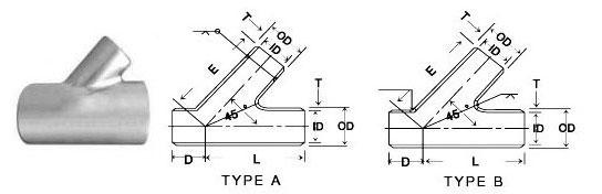 Lateral Tee Dimensions