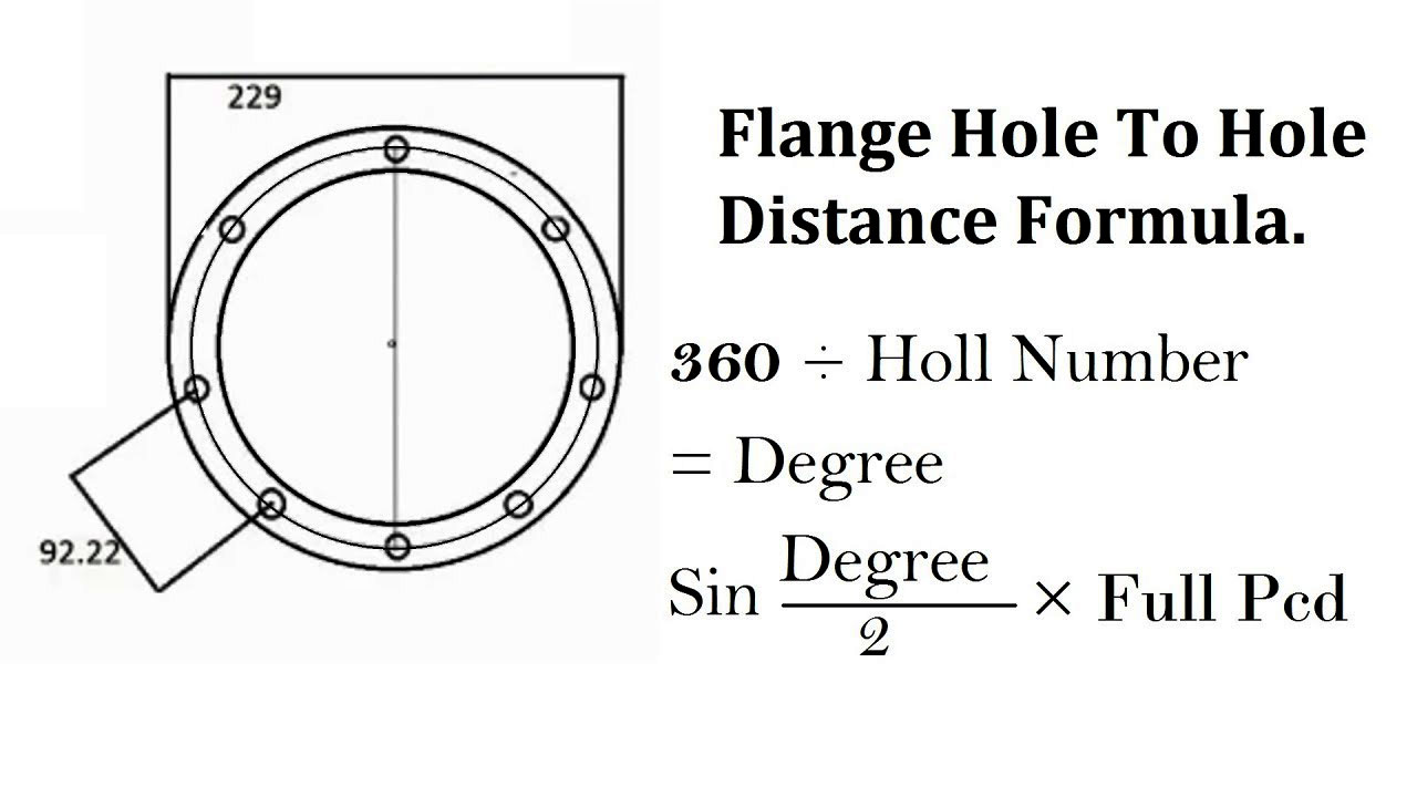 Pipe Flange Hole Marking Formula