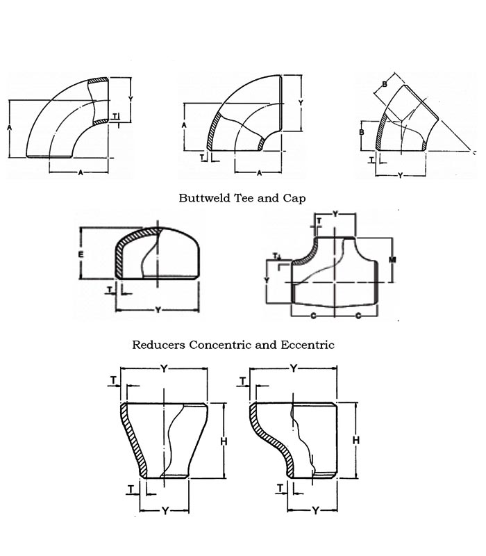 Standard Dimensions Of Stainless Steel 304l Fittings